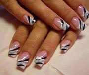 Наращивание и дизайн ногтей гелем. Новогодние скидки!!!