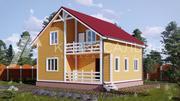 Каркасный Дом под ключ 8х8 по проекту Лахти