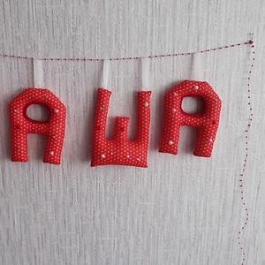 Мягкие буквы - имя вашего малыша.