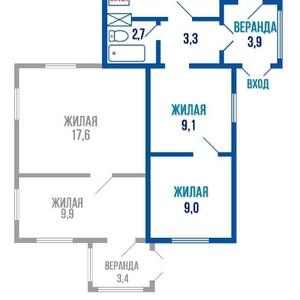 продается 1/2 часть дома в Барановичах
