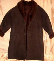 Дублёнка мужская коричневая